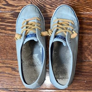 Gray Sperry Topsiders